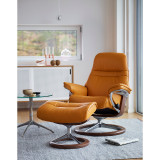 Stressless Sunrise Chair and Ottoman, Small with Signature Base by Ekornes