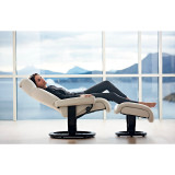 Stressless Magic Chair and Ottoman, Medium with Classic Base by Ekornes