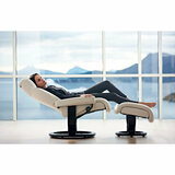 Stressless Magic Chair and Ottoman, Large with Classic Base by Ekornes
