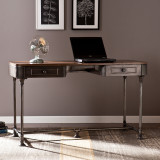 Alva Industrial 2-Drawer Desk