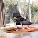 Stressless Reno Chair and Ottoman, Large with Classic Base by Ekornes