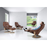 Stressless Live Chair and Ottoman, Medium with Signature Base by Ekornes