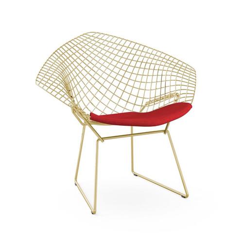 Bertoia Gold Diamond Chair