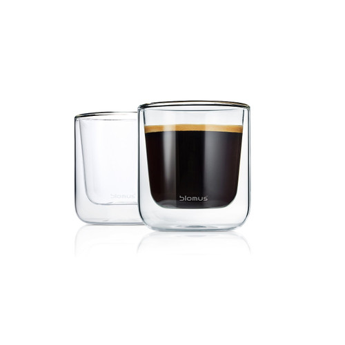 Nero Insulated Glasses, Set 2 by Blomus