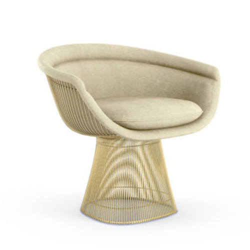 Platner Gold Lounge Chair by Knoll