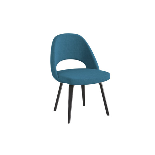 Saarinen Executive Armless Chair, Upholstered Back by Knoll
