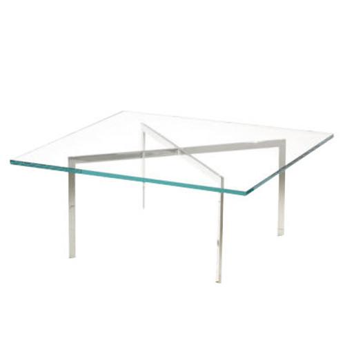 "Barcelona Table by Knoll, 17"" Tall"