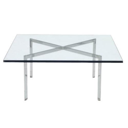 "Barcelona Table by Knoll, 18.5"" Tall"