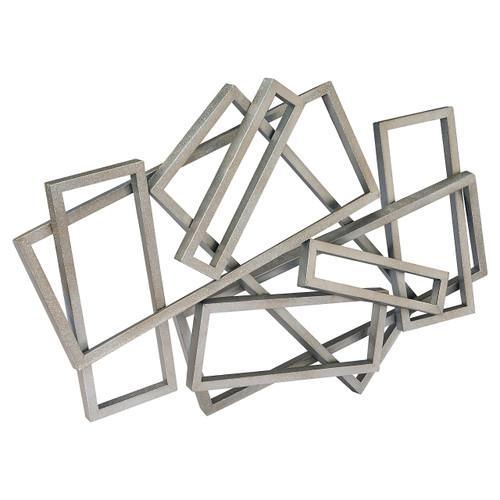 Metal Rectangles Wall Decor