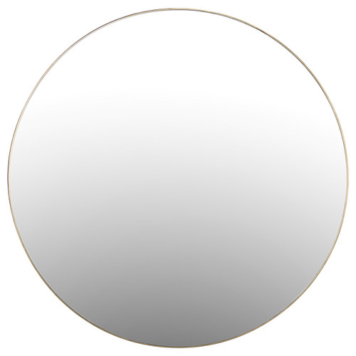 Bellvue Polished Brass Round Mirror