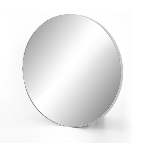Bellvue Shiny Steel Round Mirror