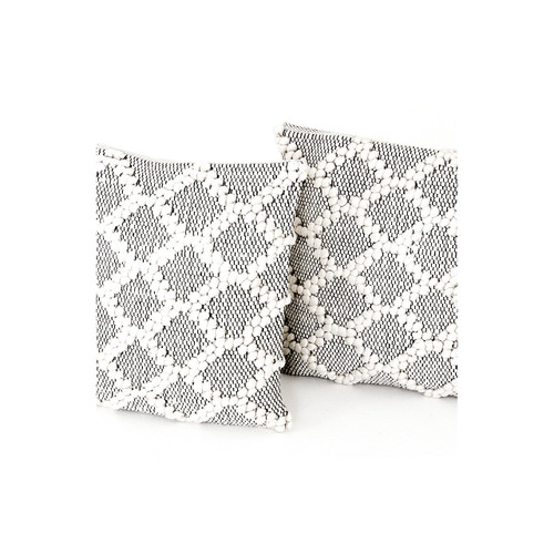 Black & Cream Diamond Pillow, Set Of 2