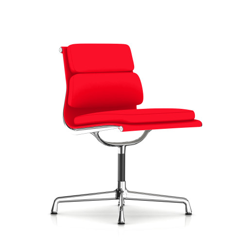 Eames Soft Pad Armless Side Chair, Fabric by Herman Miller