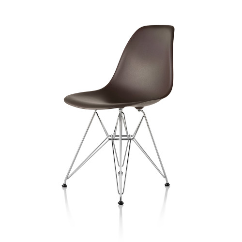 Eames Molded Plastic Side Chair with Eiffel Tower Base by Herman Miller
