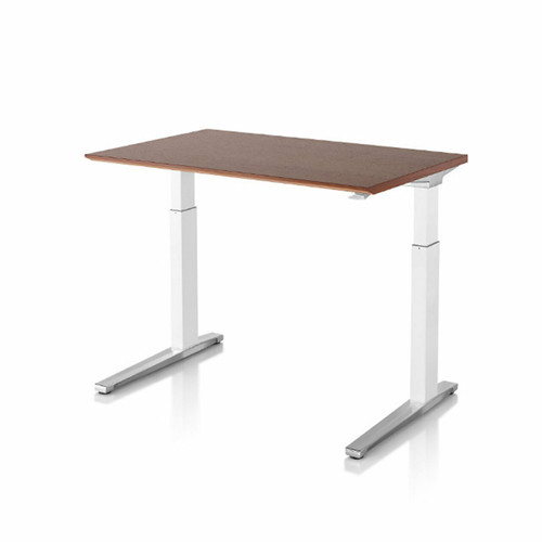 Renew Sit-to-Stand Rectangular Table with C-Foot by Herman Miller