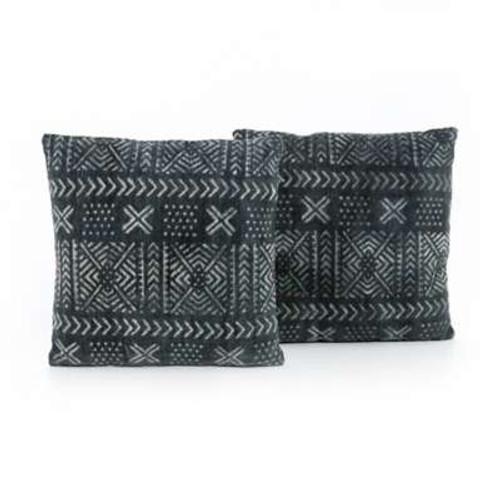 Mud Cloth Print Pillow, Set Of 2