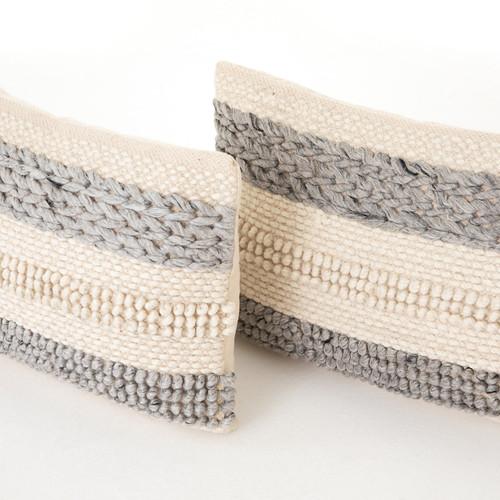 Textured Stripe Pillow, Set Of 2