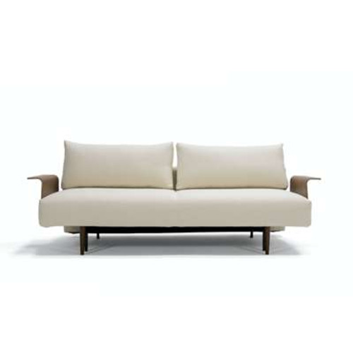 Frode Sofa with Walnut Arms by Innovation-USA
