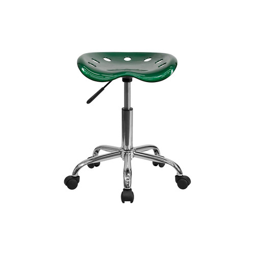 Vibrant Tractor Seat and Chrome Stool