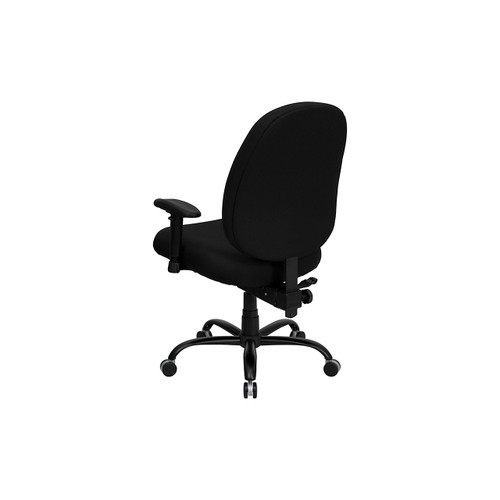 Hercules Big and Tall Black Fabric Office Chair with Arms