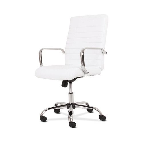 Sadie 5-Thirteen Executive White Leather High-Back Chair by Hon