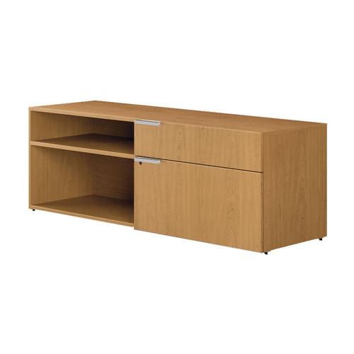 Voi Low Credenza, Two Side Drawers by HON