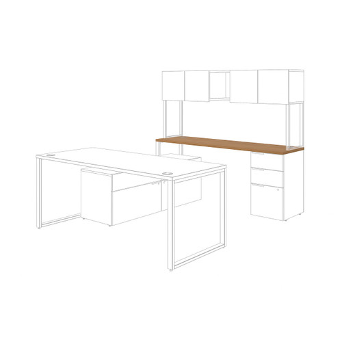Voi Rectangle Worksurface by HON