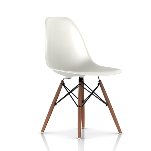 Eames Molded Plastic Dowel Leg Side Chair by Herman Miller
