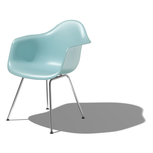 Eames Molded Plastic Armchair with 4-Leg Base by Herman Miller