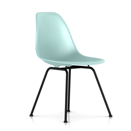 Eames Molded Plastic Side Chair with 4 Leg Base by Herman Miller