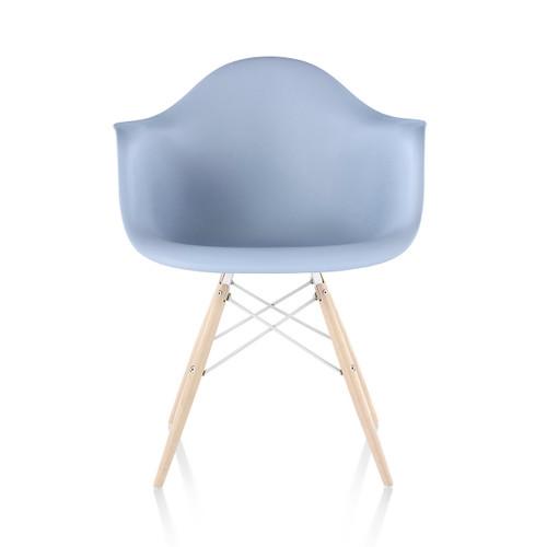 Eames Plastic Armchair, Dowel Leg Base by Herman Miller