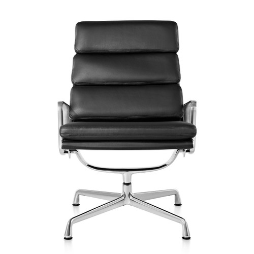 Eames Soft Pad Lounge Chair, Swivel Base by Herman Miller