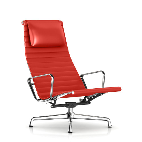 Eames Aluminum Lounge Chair with Headrest by Herman Miller