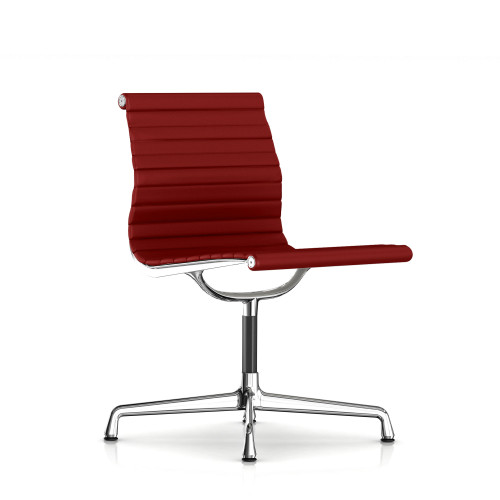 Eames Aluminum Armless Side Chair Fabric by Herman Miller