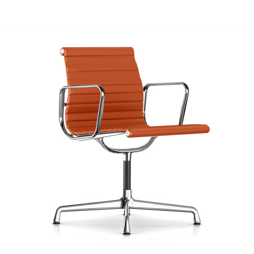 Eames Aluminum Side Chair with Arms by Herman Miller
