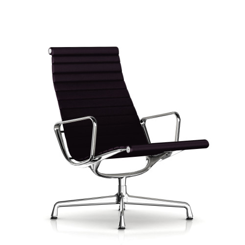 Eames Aluminum Lounge Chair by Herman Miller, Fabric