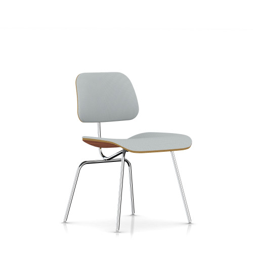 Eames Plywood Dining Chair by Herman Miller, Upholstered with Metal Legs