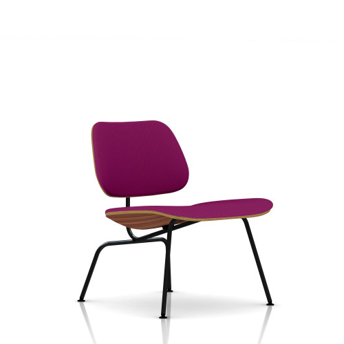 Eames Molded Plywood Lounge Chair by Herman Miller, Upholstered