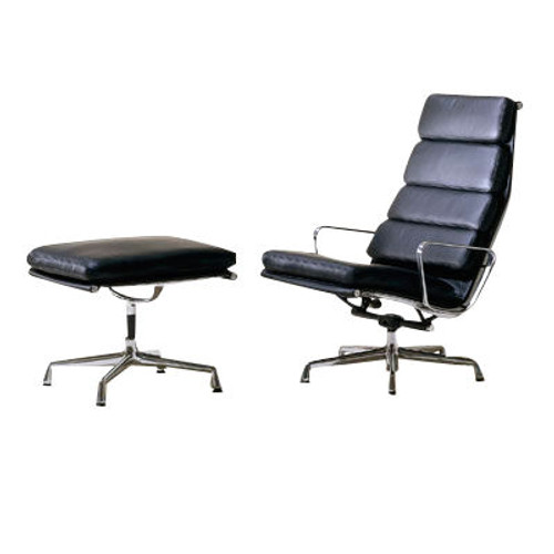 Eames Soft Pad Lounge Chair and Ottoman by Herman Miller