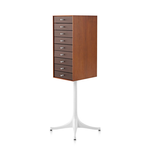 Nelson 9-Drawer Miniature Chest with Pedestal by Herman Miller