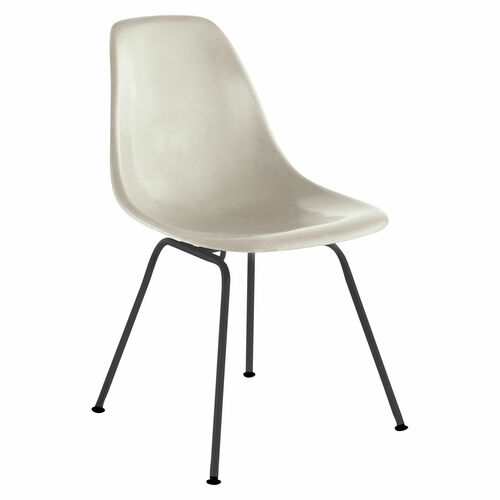 Eames Molded Fiberglass Side Chair, 4-Leg Base by Herman Miller
