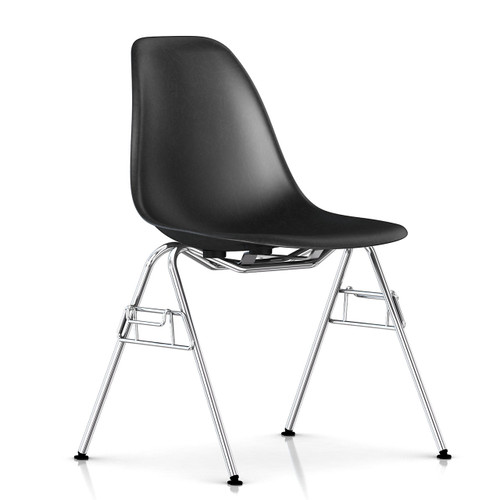 Eames Molded Fiberglass Side Chair, Stacking Base by Herman Miller