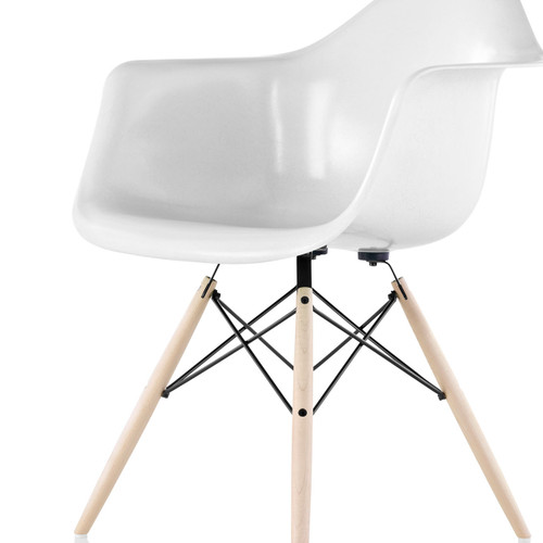 Eames Molded Fiberglass Armchair by Herman Miller, Dowel Leg Base