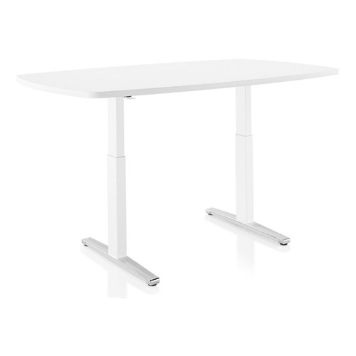 Renew Sit-to-Stand Oval Table with T-Foot by Herman Miller
