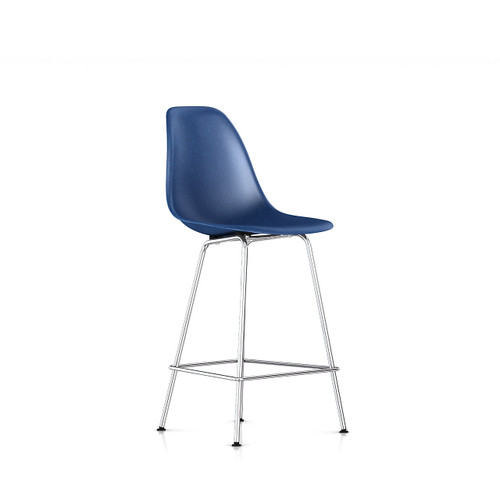 Eames Molded Fiberglass Counter Stool by Herman Miller