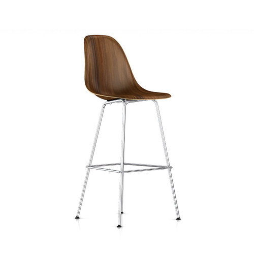 Eames Molded Wood Bar Stool by Herman Miller
