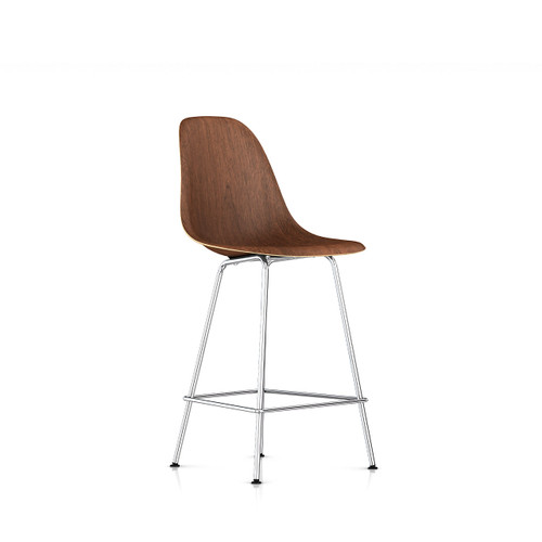 Eames Molded Wood Counter Stool by Herman Miller