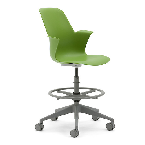 Node 5-Star Base Stool by Steelcase