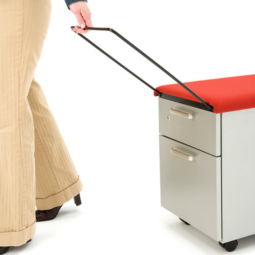 Mobile File Cabinet with Cushion Top by Steelcase
