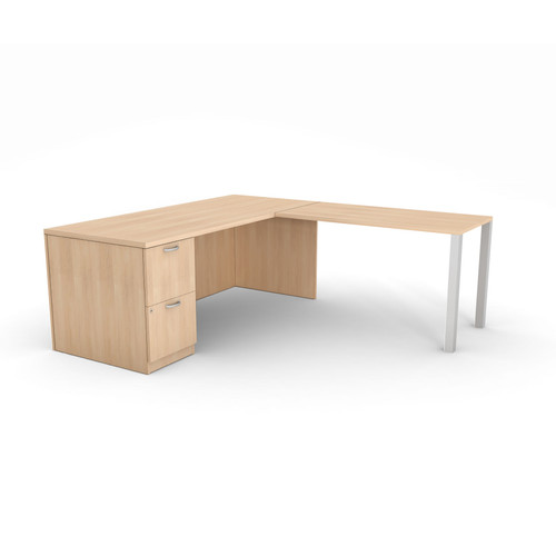Currency Left Hand Desk & Return by Steelcase